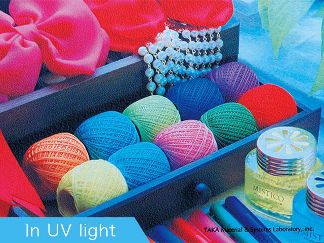 In UV light